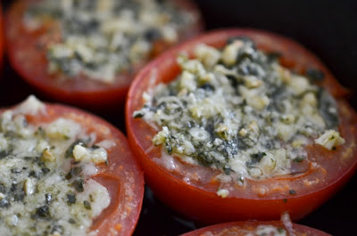 Pesto Stuffed Roast Tomatoes