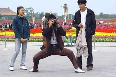 ninja taking photo