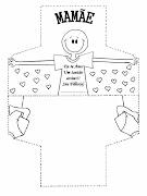 Molde de cartão para o dia das mãesimprimir (lembrancinha dia das maes )