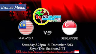 Malaysia vs Singapura Final Sea Games 2013