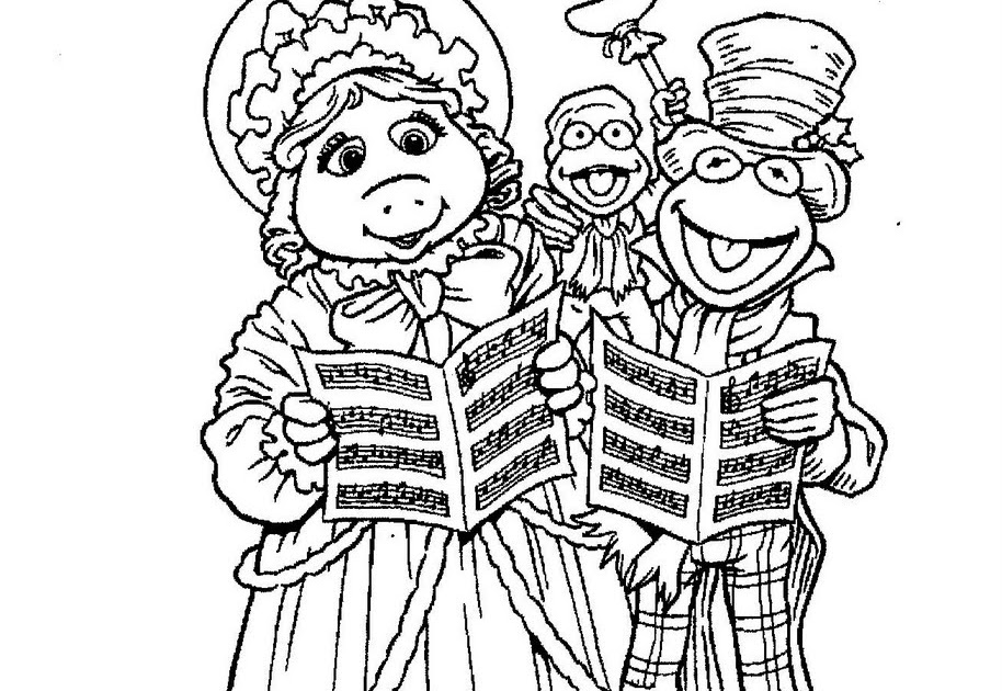 Christmas Carol Coloring Pages  coordinizecom