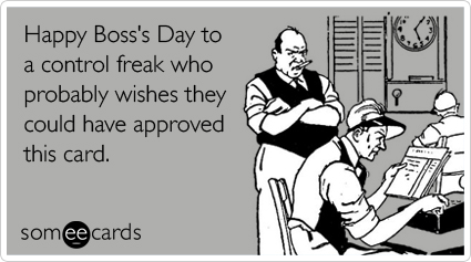 Happy Boss's Day, ecard, October 16