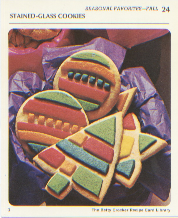 Retro recipes stained glass cookies recipe by betty crocker for Stained glass cookie recipe