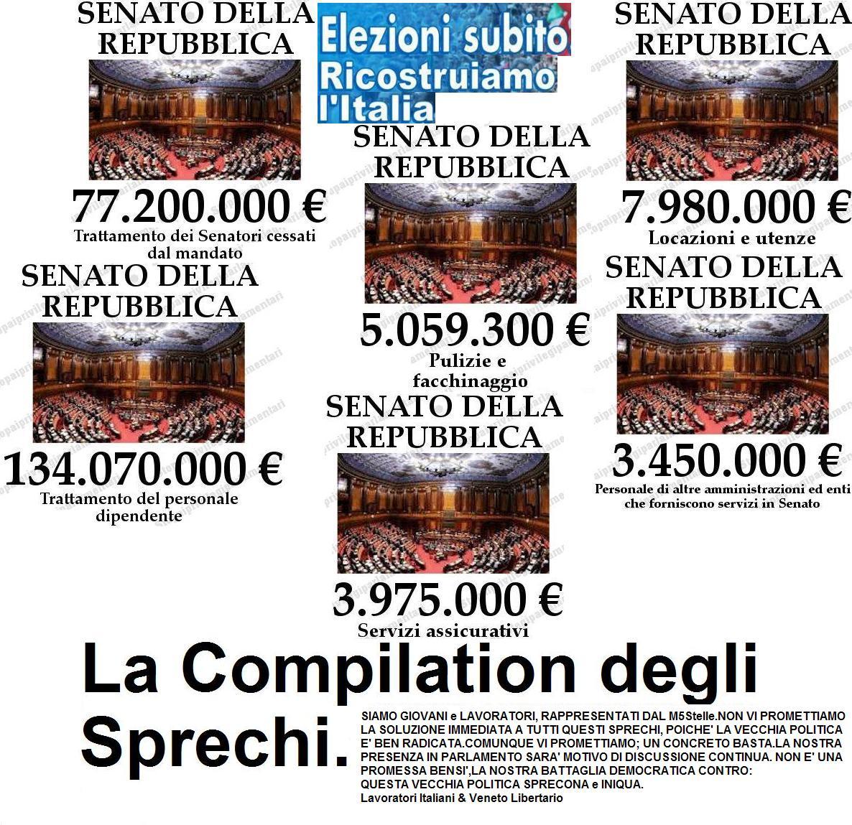 Revolutions2013 quanto costa la politica in italia for Tutti i politici italiani
