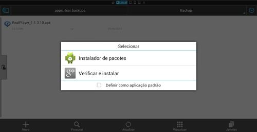 Instalando aplicativo clicando sobre ele através de um gerenciador
