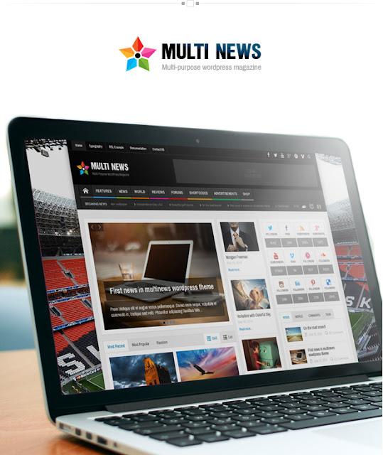 Download Free Multinews Multi-purpose WordPress News Magazine 2