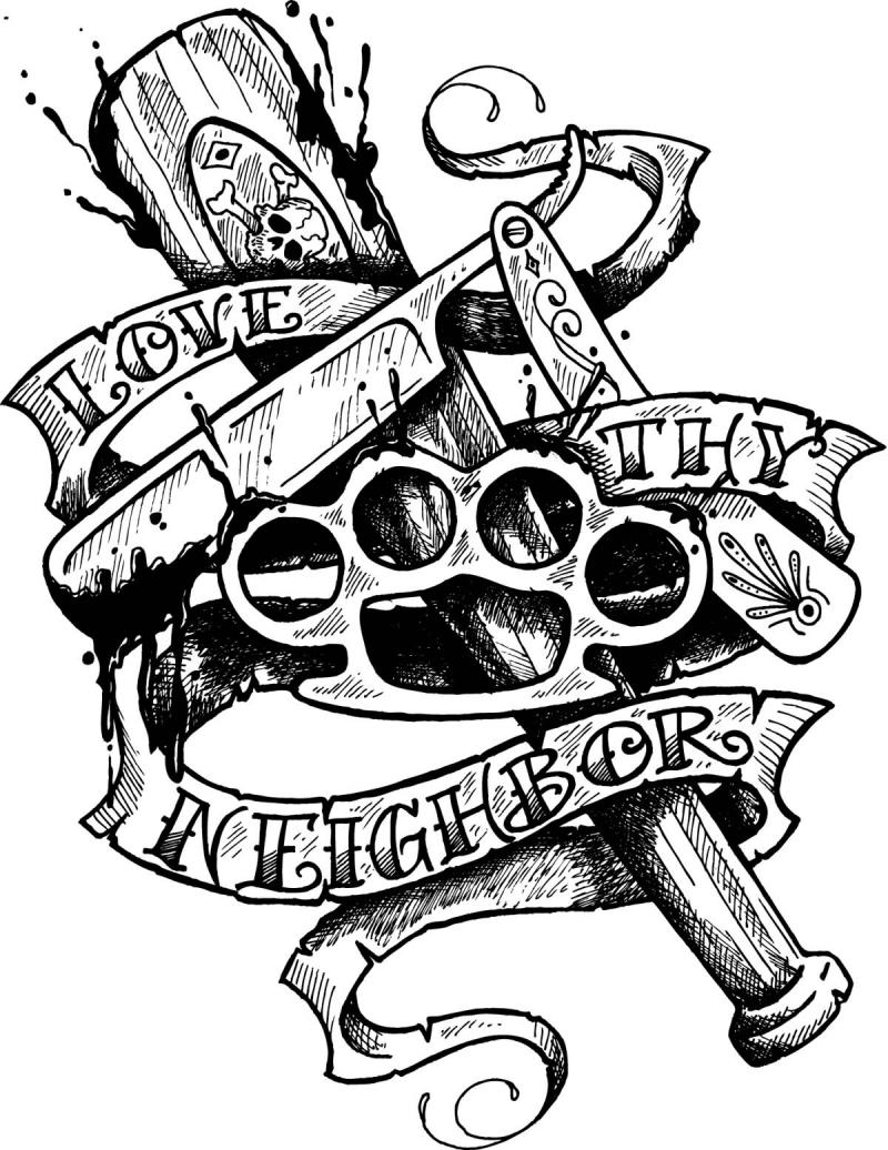 Tattoo Art Styles: old school tattoo flash art for men