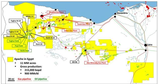 Oil And Gas Mergers And Acquisition Review Apache Announces - Map of egypt today