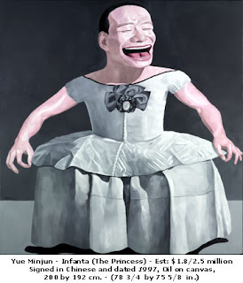 Yue Minjun - Infanta Margarita