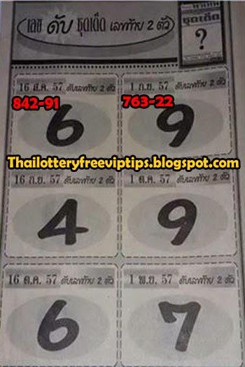 Thai lottery Sure Cut Digit 16-09-2014