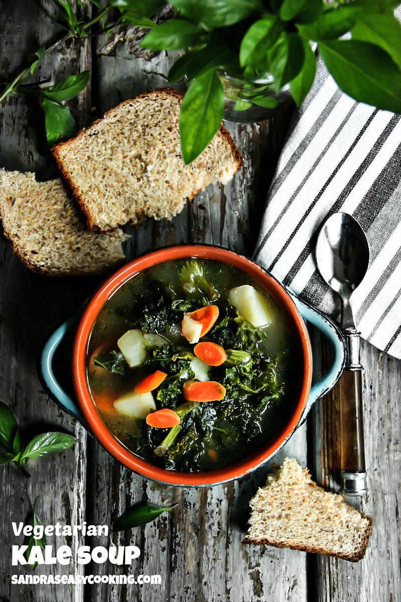 Vegetarian Kale Soup #recipe