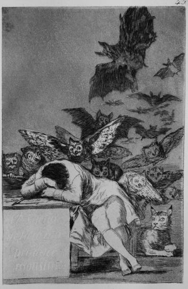 The Sleep of Reason Produces Monsters, Francisco Goya