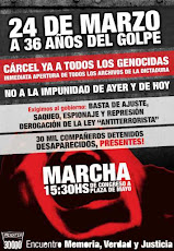 MARCHA 24 DE MARZO, 15.30 desde Congreso