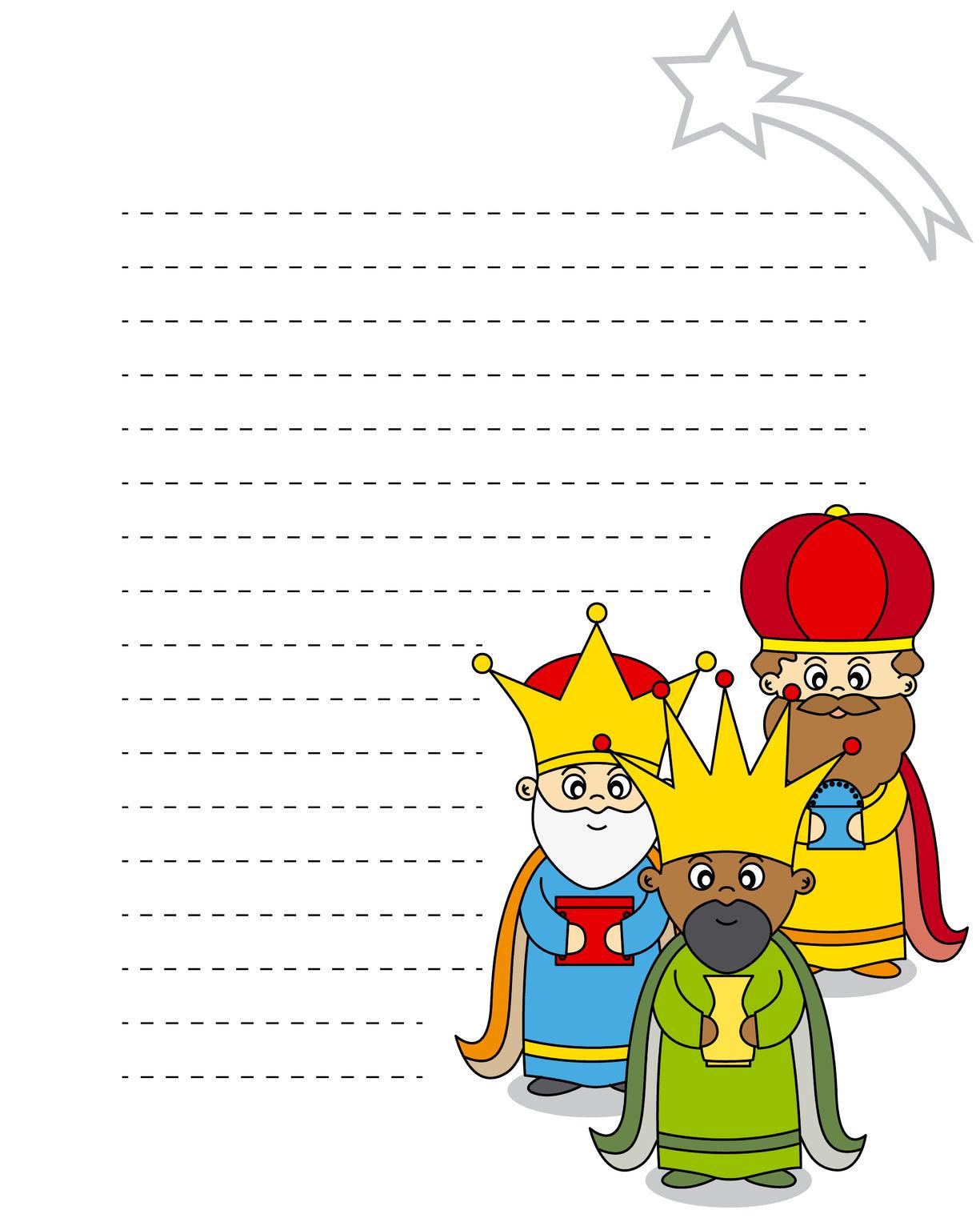Banco de imgenes Carta para los Tres Reyes Magos que se puede