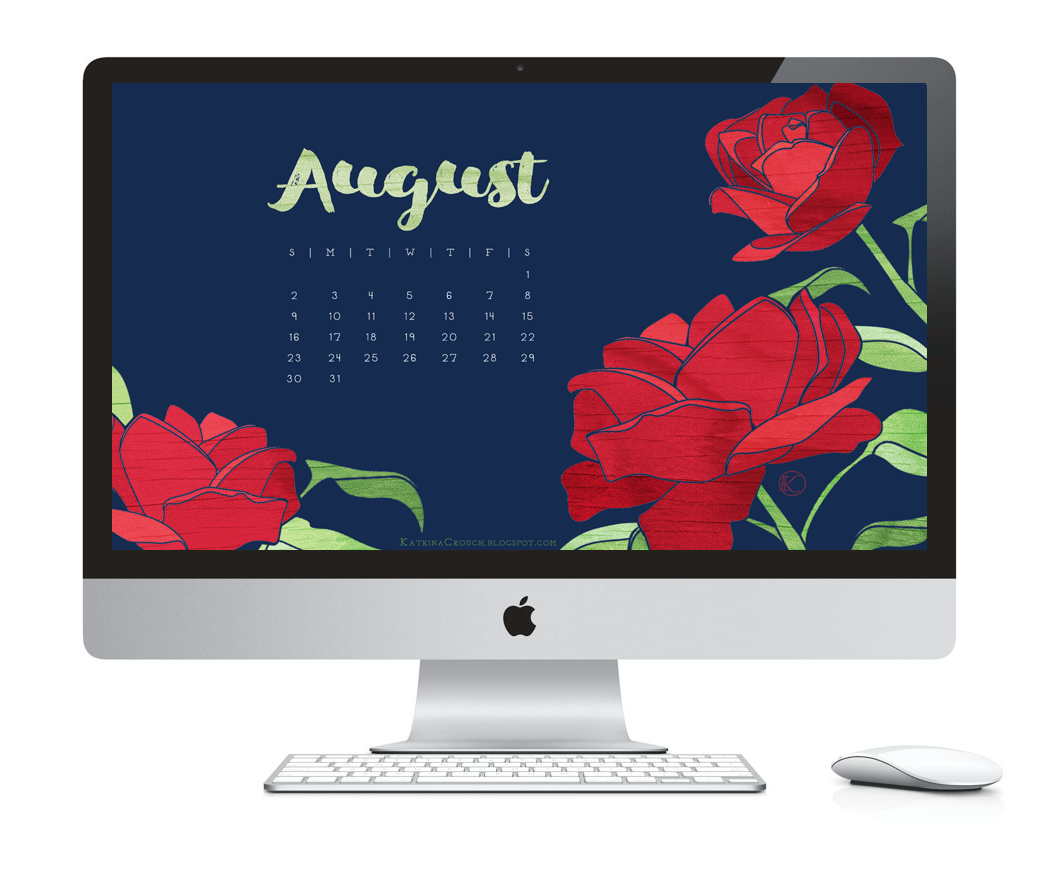 Desktop Calendar Design Examples : Katrina crouch — blushed design august desktop calendar