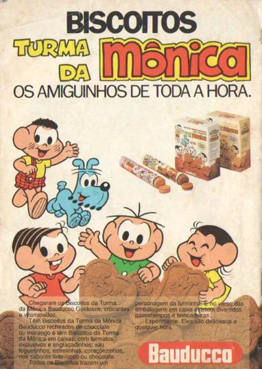 Propaganda dos Biscoitos Bauducco da Turma da Mônica - Anos 90