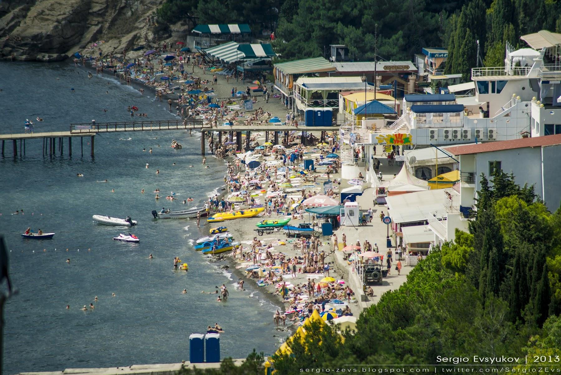 Курортный поселок в Крыму