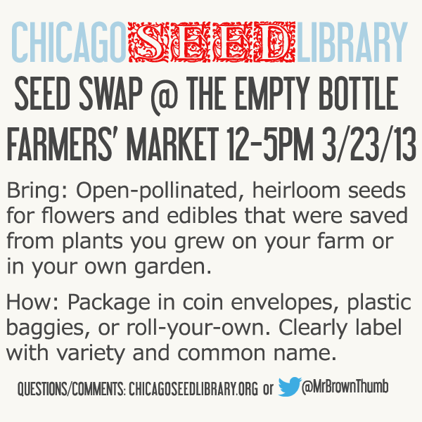 Chicago Seed Library Seed Swap