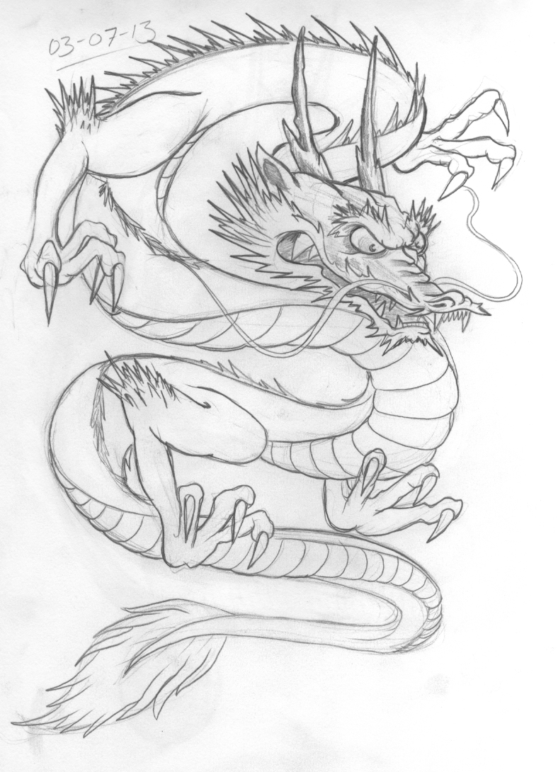 Welsh dragon tattoo designs - Dragon Tattoo Design Again A Few Flow Issues And I Didn T Get Time To Do More Detail