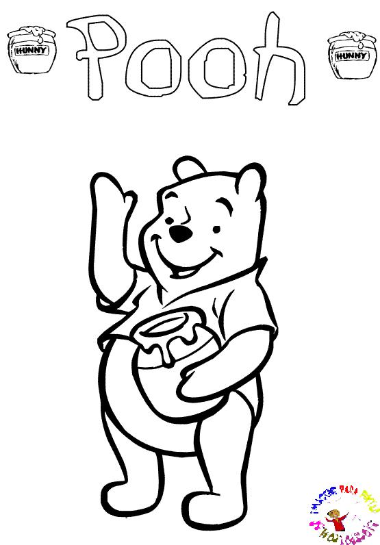 Desenhos Preto e Branco Pooh Colorir