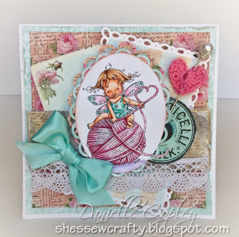 Mo's Digital Pencil Baby Fairy Purl using Garment District by Marion Smith for Scrapbook Maven