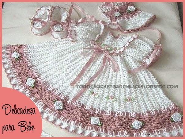 Patrones crochet de vestido de bebé | Todo crochet