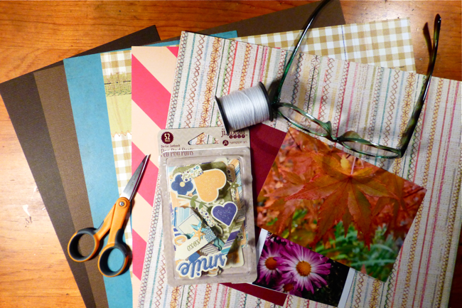scrapbooking, Jillibean Soup, Crate Paper, Studio Calico, American Crafts cardstock, Fiscars scissors