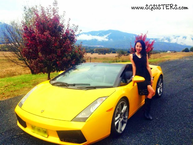 Lora Christelle Lim At Mount Beauty With Her Lamborghini Gallardo Spyder