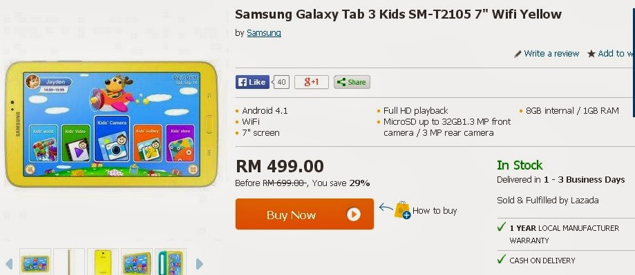 Samsung galaxy tab for kids