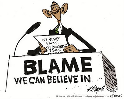 obama blames congress cartoon