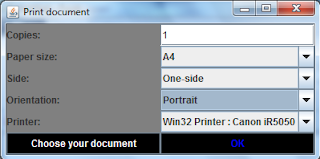 Java print to printer