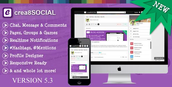 crea8social v5.3 – PHP Social Networking Platform