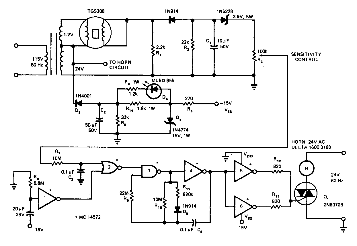 simple gas smoke detector circuit diagram schematics world rh schematics world blogspot com