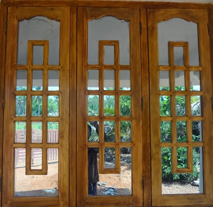 Wood design ideas kerala wooden window wooden window for Window glass design images