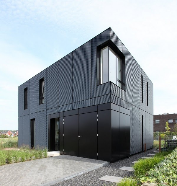 Dise o de interiores arquitectura casa minimalista con for Casa minimalista rectangular