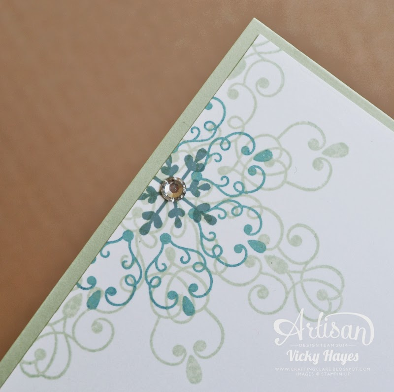 UK Stampin' Up demonstrator Vicky Hayes shows how to layer with ink