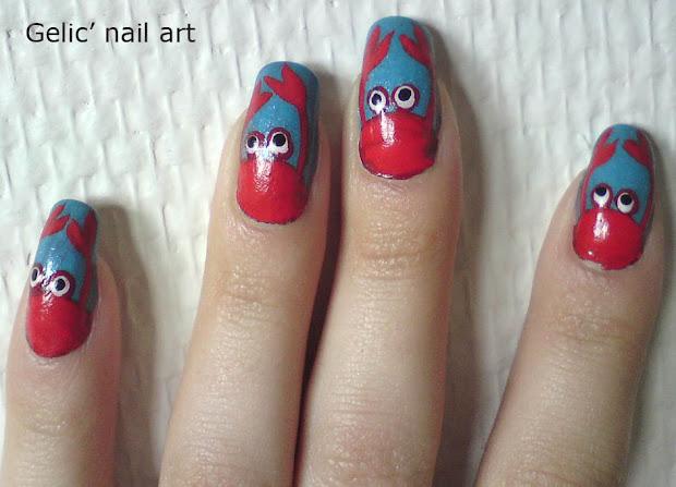 gelic' nail art cute crab