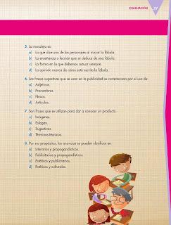 Apoyo Primaria Español 5to grado Bloque I Evaluación del Bloque I
