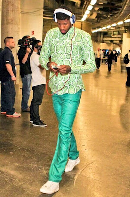 Paul george green pants, paul george green shirt