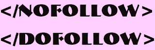 nofollow and dofollow links for blogger