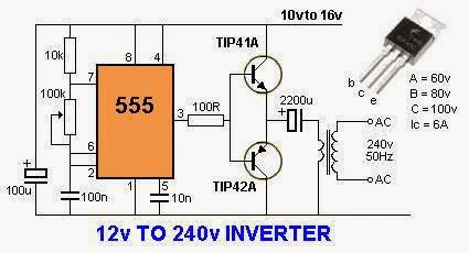 electrical engineering world 12 volts to 240 volts inverter