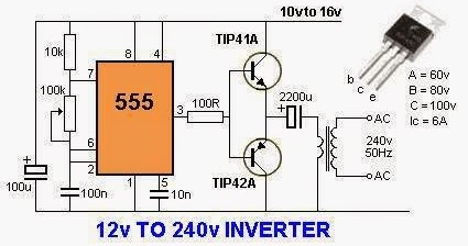 220 volt motor wiring diagram electrical engineering world 12 volts to 240 volts inverter  electrical engineering world 12 volts to 240 volts inverter
