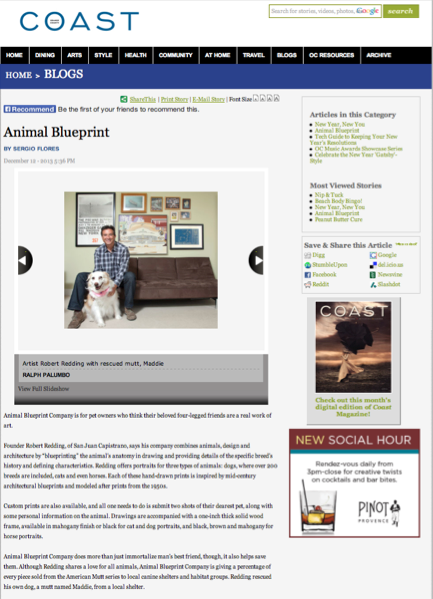 To you january 2014 coast magazine online features animal blueprint company malvernweather Image collections