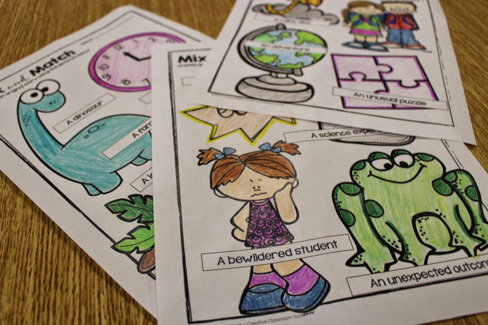 creative writing ideas kindergarten