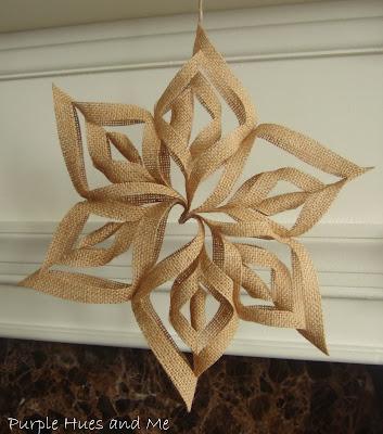 Burlap 3-D ornament