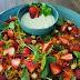 [Receitinha] Salada mix de Morango com Gorgonzola