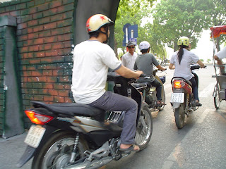 Motorcycle in Hanoi Vietnam
