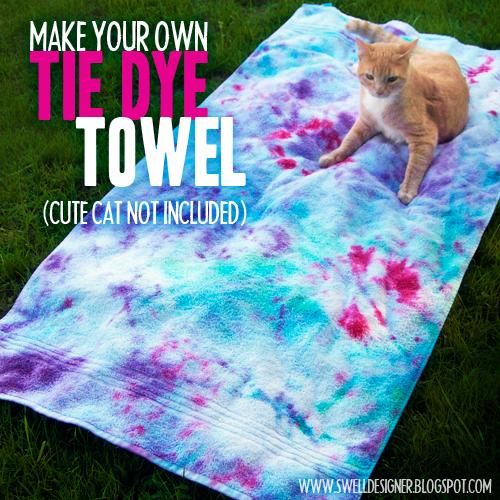 Make your own Tie Dye Towel DIY