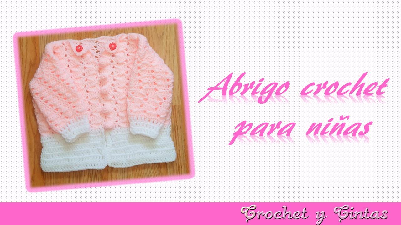 Abrigo – chaleco con botones tejidos a crochet para niñas ~ Crochet ...