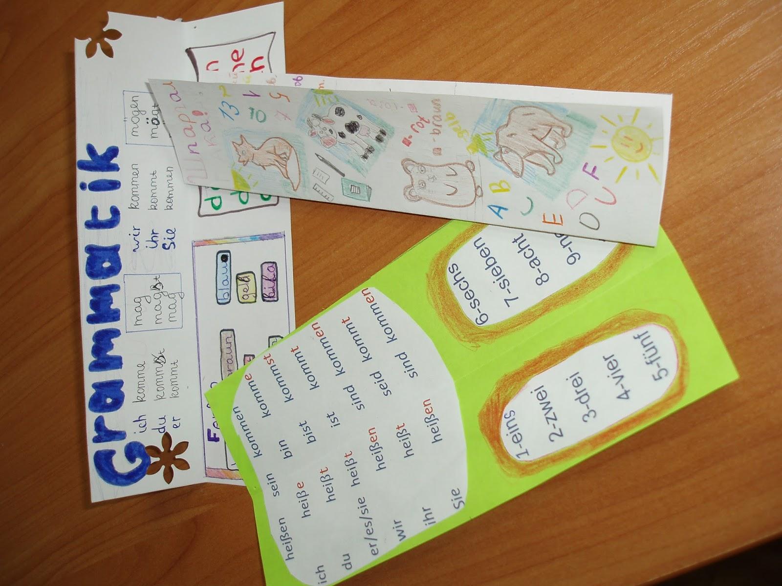 Выставка работ учащихся закладка шпаргалка по немецкому
